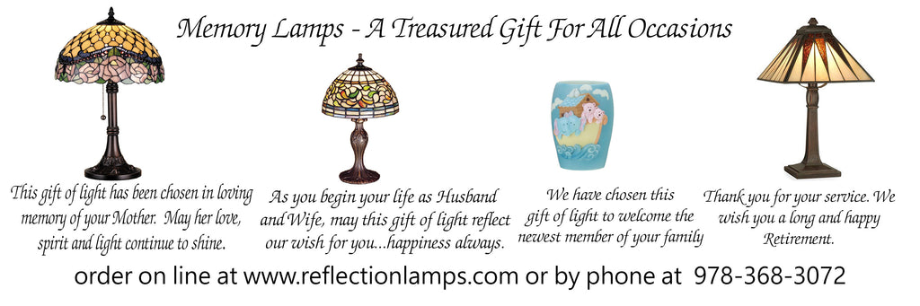 Memory Lamps - A beautiful and lasting alternative gift in memory of a loved one