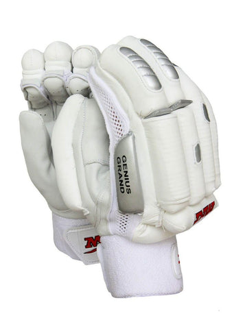 MRF Genius Grand LE, All White - Batting Gloves