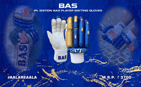 BAS Players IPL Blue/Gold - Batting Gloves