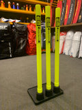 Plastic Cricket Stumps - Hard Rubber Base Stand