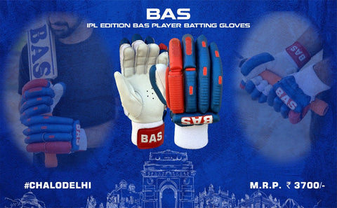 BAS Players IPL Blue/Red - Batting Gloves