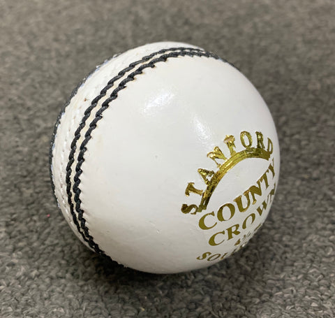 SF County Crown - Junior White Cricket Ball