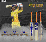 BAS Retro Vintage MSD  - Player Edition Cricket Bat