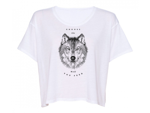 Choose the Wolf You Feed - Women's Slouchy T Shirt