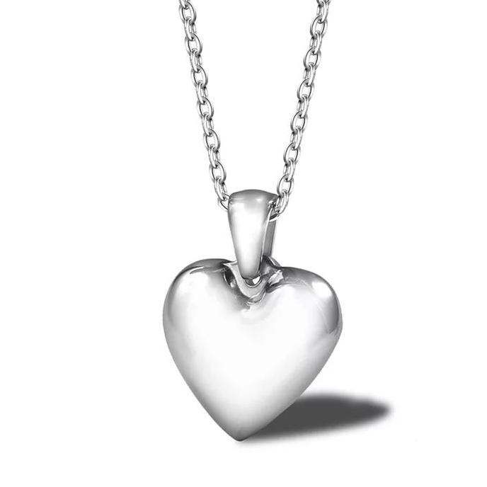Small Solid Heart Necklace
