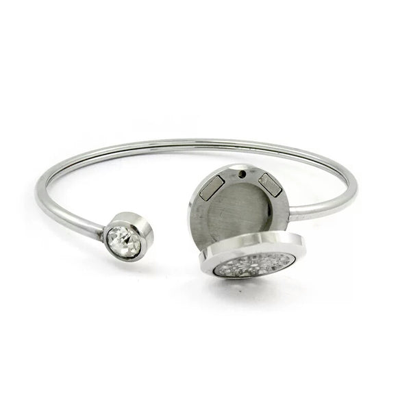 20mm Aromatherapy  Swing  Bangle CZ