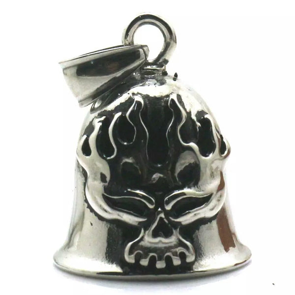 Flaming Skull Guardian Bell