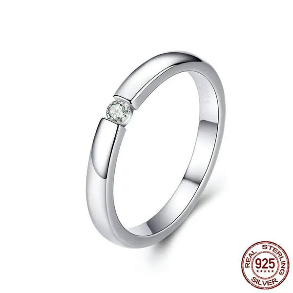 Petite Clear CZ Ring