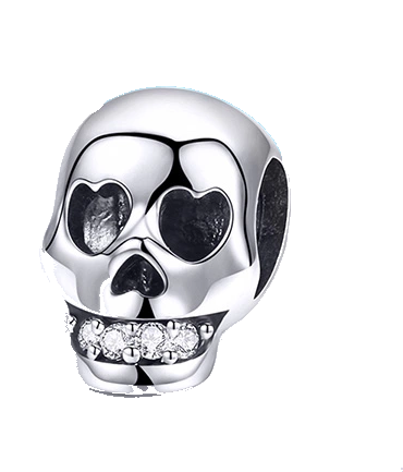 Skull Head with CZ Charm