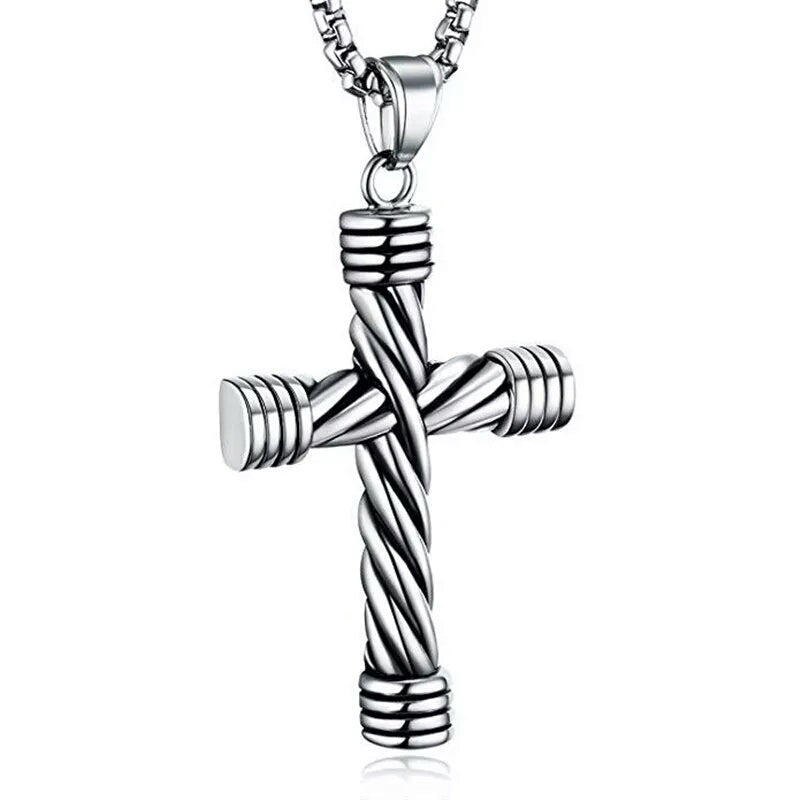 Twisted Cross Pendant/Necklace
