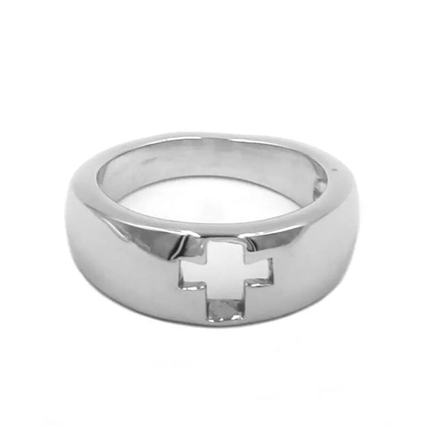 Hollow Cross Ring