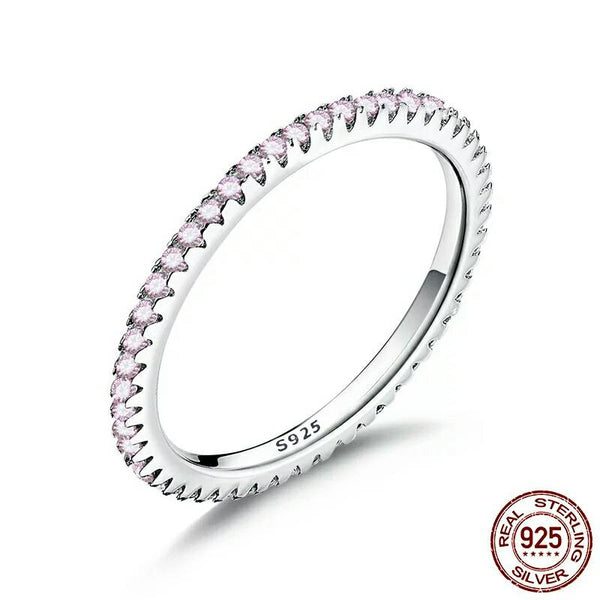 Pink CZ Stackable Ring