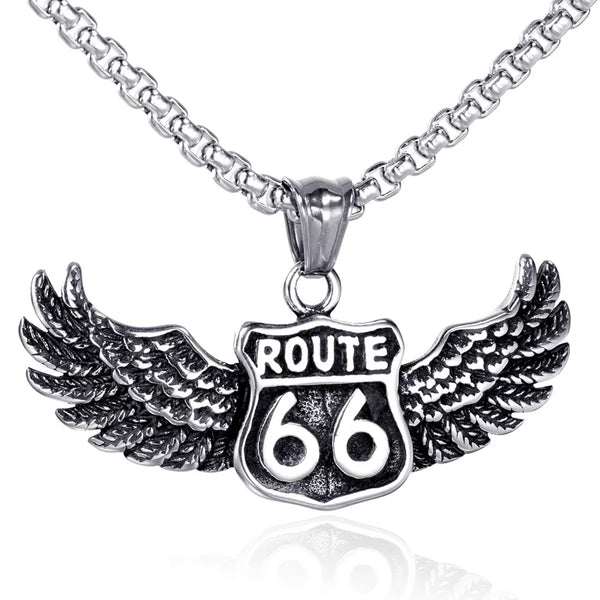 Route 66 Wing Necklace