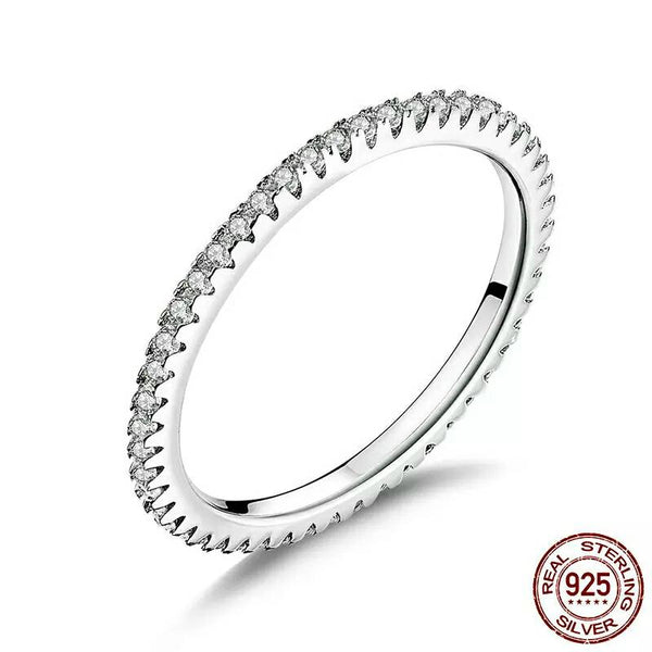 Clear CZ Stackable Ring