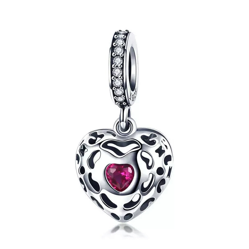 Happiness Dangling  Heart  Charm