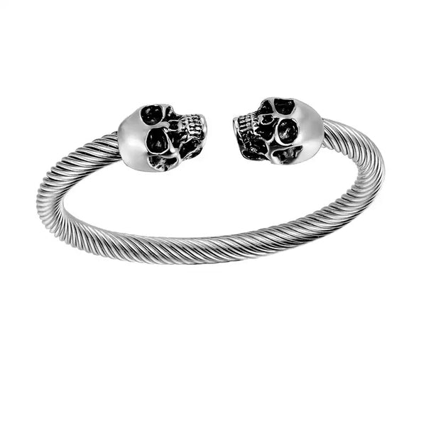 Twisted Skull Head Bangle