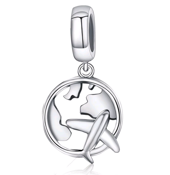 Around The World Travel  Charm