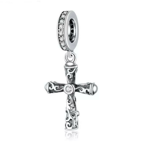Cross with CZ Charm