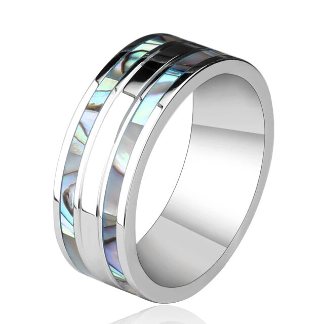 Mother of Pearl  Wedding Band