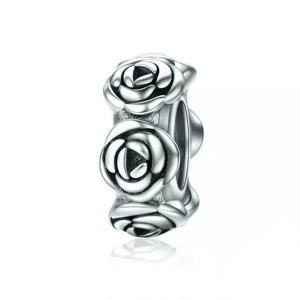 Stackable Rose Flower Charm