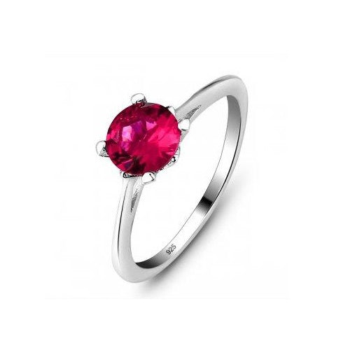 Red  CZ Stackable Ring