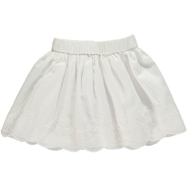Baby Girl White Embroidered Carousel Skirt,Skirts,Rockin' Baby-The Little Clothing Company