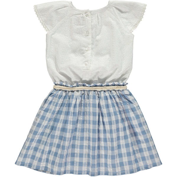 Country Girl Gingham Eyelet Dress,Dresses,Rockin' Baby-The Little Clothing Company
