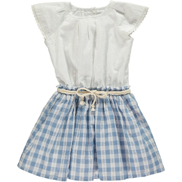 Country Girl Gingham Eyelet Dress