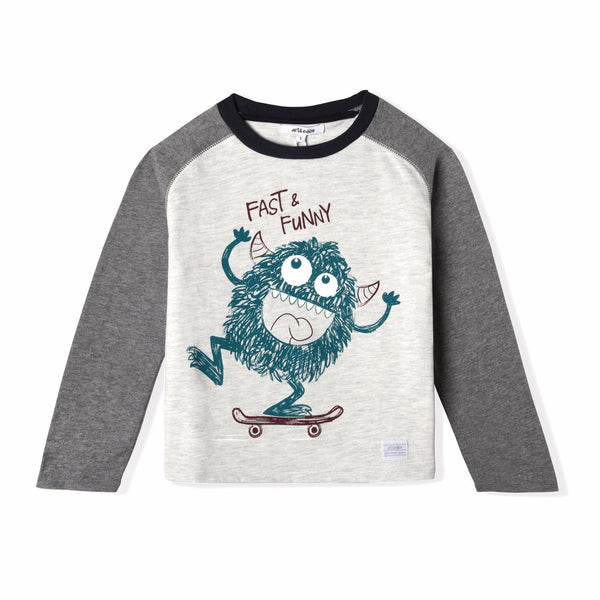 Little Monster Long Sleeve Tee