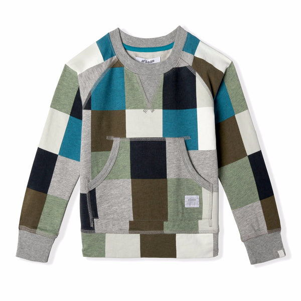 Samuel Baby and Boy's Square Long Sleeve Crewneck,Shirts,Art & Eden-The Little Clothing Company