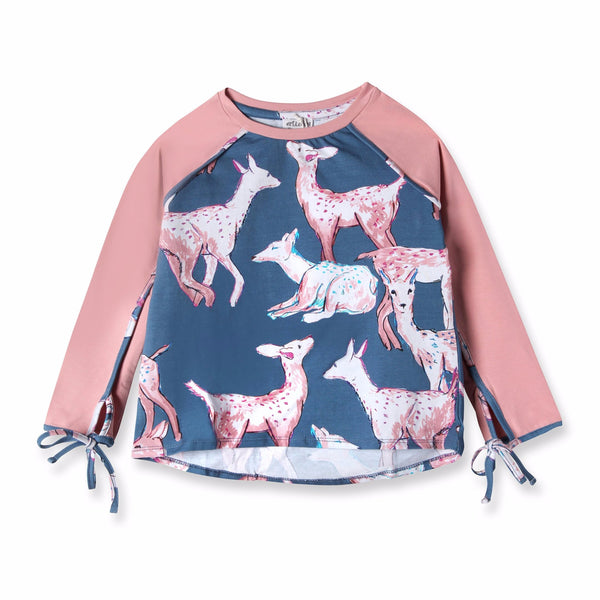 Oh My Deer Print Long Sleeve Tee