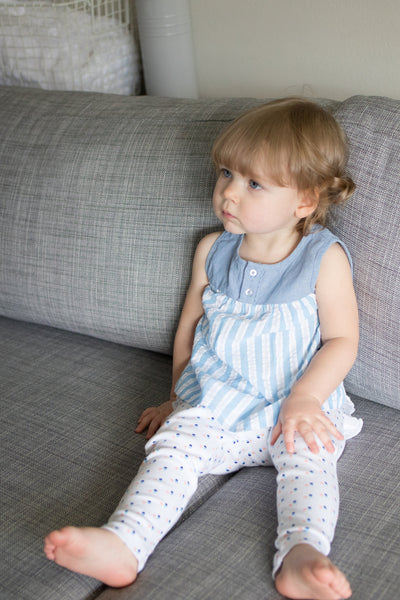 Summer Days Baby Girl Blue Stripe Tank