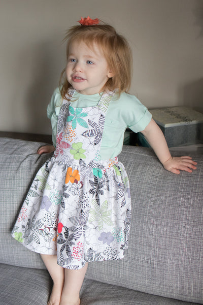 Wildflower Baby Pinafore,Romper,Art & Eden-The Little Clothing Company