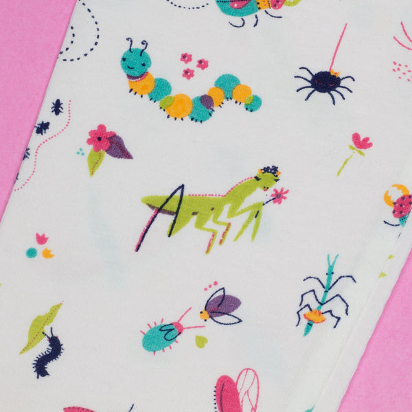 Smarty Girl Girly Bug Insect Baby & Girl Organic Cotton Leggings,Bottoms,Smarty Girl-The Little Clothing Company