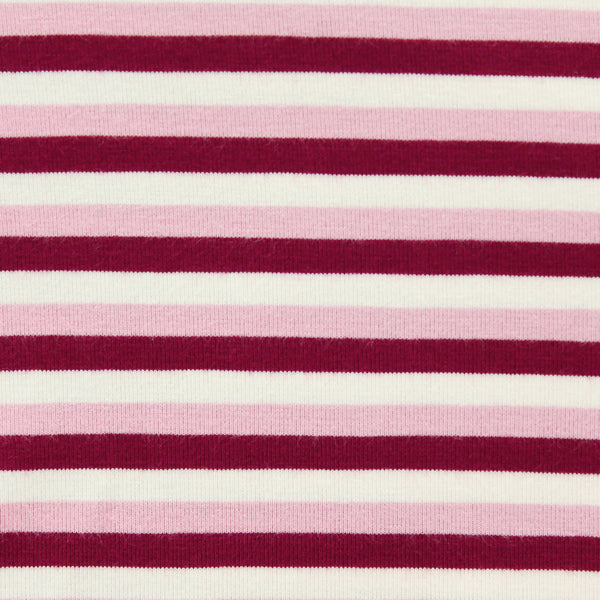 Bamboo Twirl Dress - Cranberry Stripe