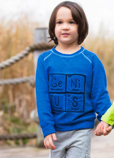 boy blue GeNiUS periodic table science sweatshirt