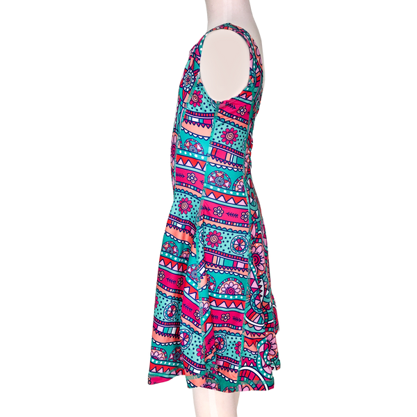 Kaleidoscope Flower Twirl Dress,Dresses,Chooze-The Little Clothing Company