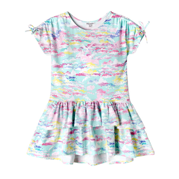 Rainbow Unicorn in the Clouds Girl Dress
