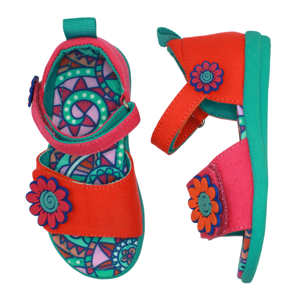 Kaleidoscope Flower Sandal,Shoes,Chooze-The Little Clothing Company