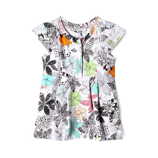 Wildflower Baby Flutter Top,Shirts,Art & Eden-The Little Clothing Company