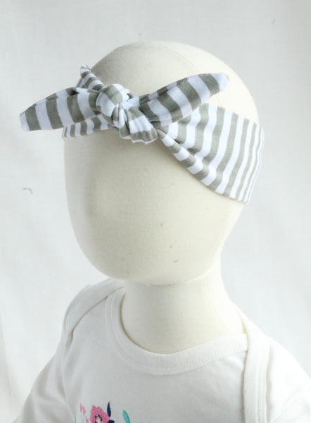 Stripe Baby & Girl Knotted Headband - 3 colors