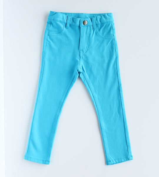 Bright Eyed Girl Blue Jegging,Bottoms,Rockin' Baby-The Little Clothing Company