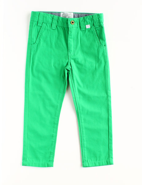 Chester Boy Green Chino Pants,Bottoms,Rockin' Baby-The Little Clothing Company