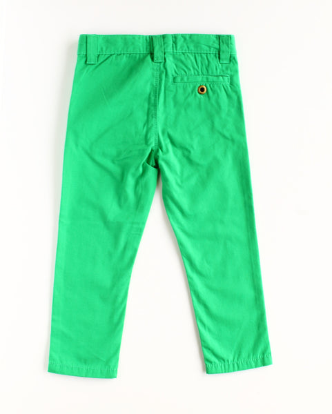 Chester Boy Green Chino Pants