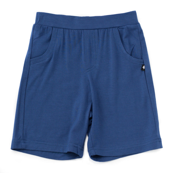 Bamboo Baby & Boy Navy Blue Shorts,Bottoms,Sweet Bamboo-The Little Clothing Company