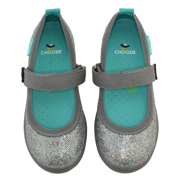 Silver Sparkle Mary Jane Shoes,Shoes,Chooze-The Little Clothing Company