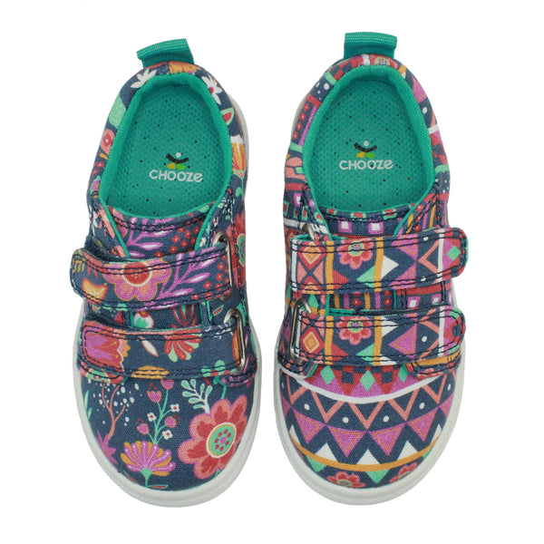 Boho Girl Floral Print Sneaker Shoes,Shoes,Chooze-The Little Clothing Company