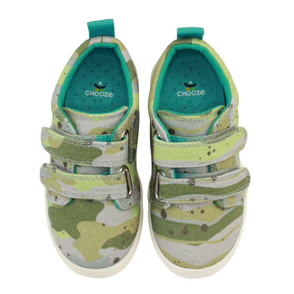 Camouflage Green and Tan Sneaker Shoes