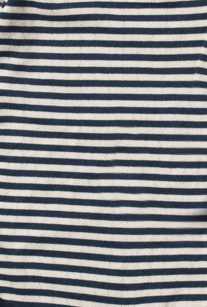 Baby Pointelle Navy Stripe Organic Cotton Long Sleeve Tee,Shirts,Little Green Radicals-The Little Clothing Company