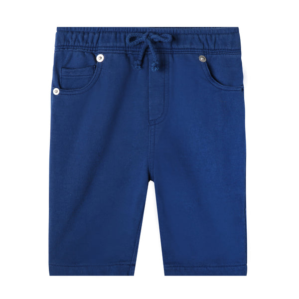 Navy blue organic cotton baby shorts